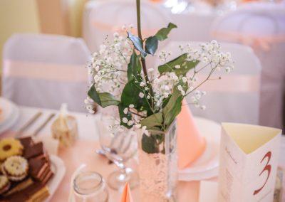 Esküvő dekoráció virág