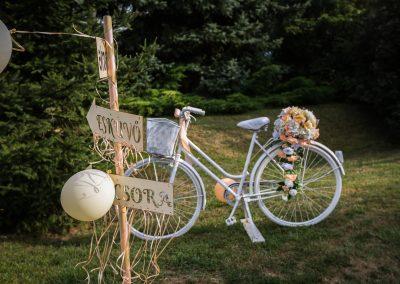 Esküvő dekoráció bicikli