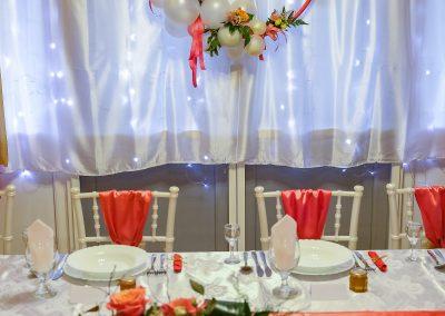 Esküvő terítés